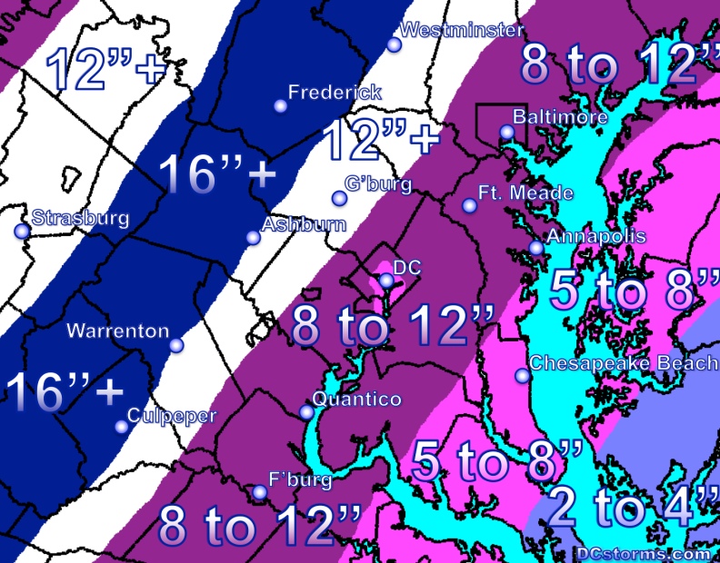 Total Snow and Sleet Accumulations by 1AM Friday