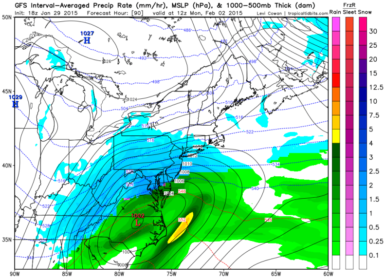 Yesterday's GFS had a solid accumulating snow event across the DC Region.
