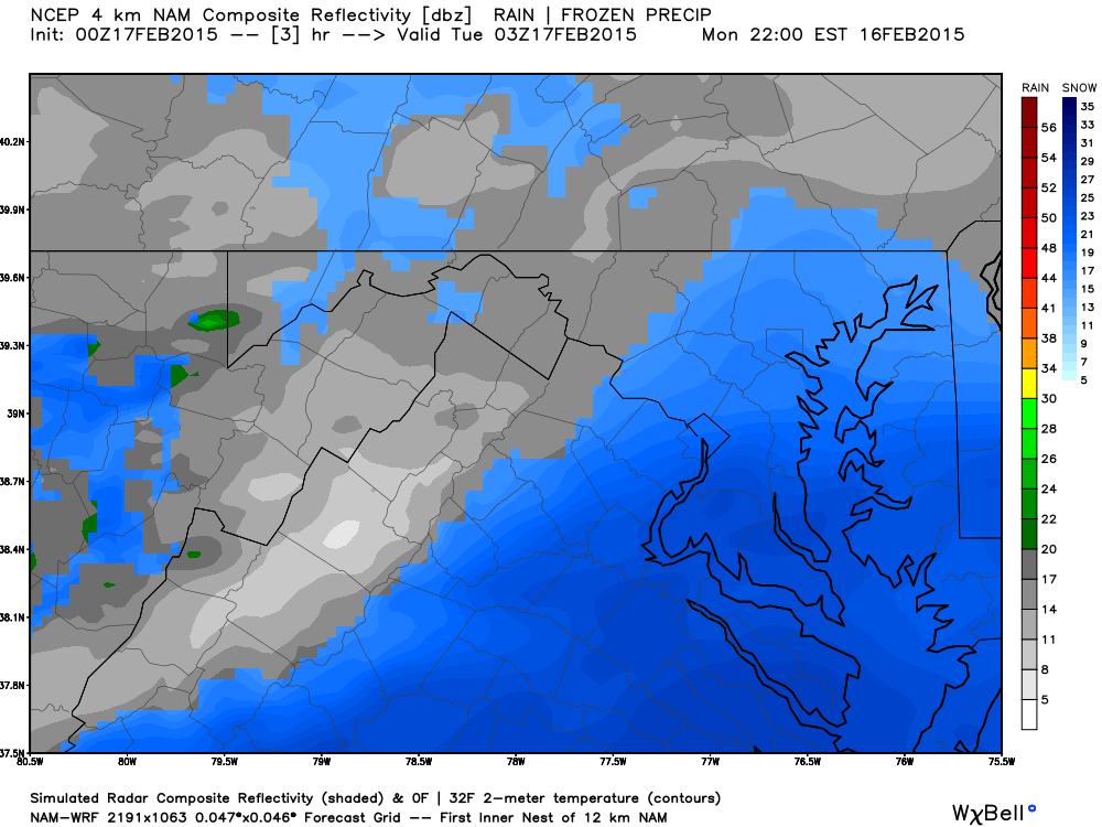Latest NAM 10PM