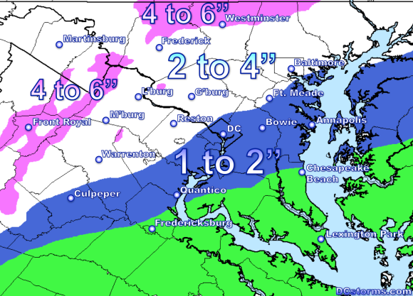 Snowfall Potential through Friday Afternoon