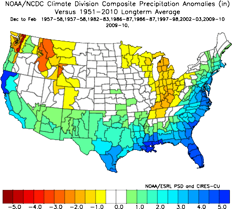 Analog package for precipitation: Potential for above normal precipitation.