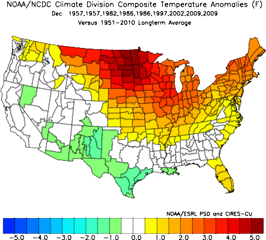 December temperature anomalies (departure from average).