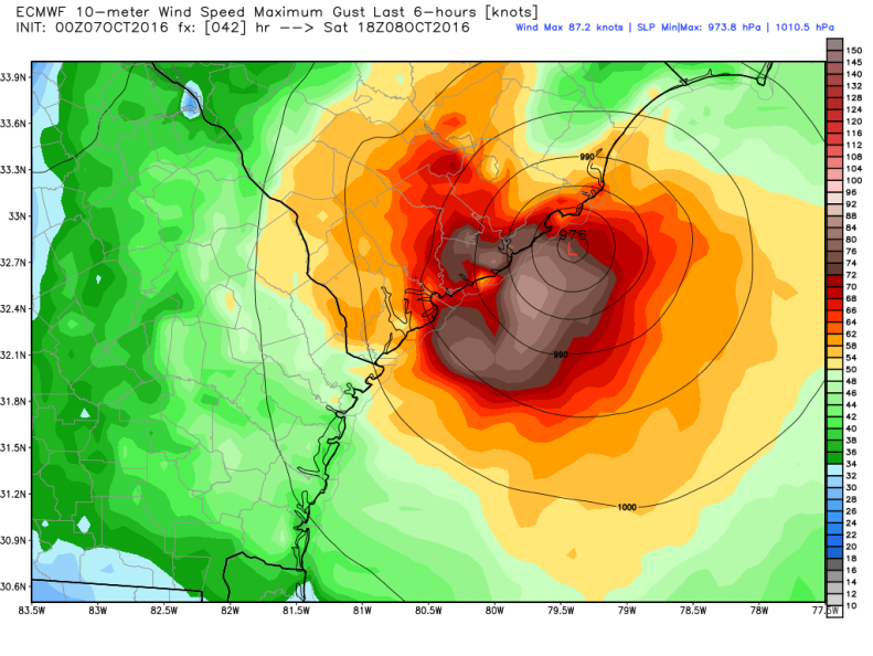 ecmwf_uv10g_charleston_Saturday_1PM.png