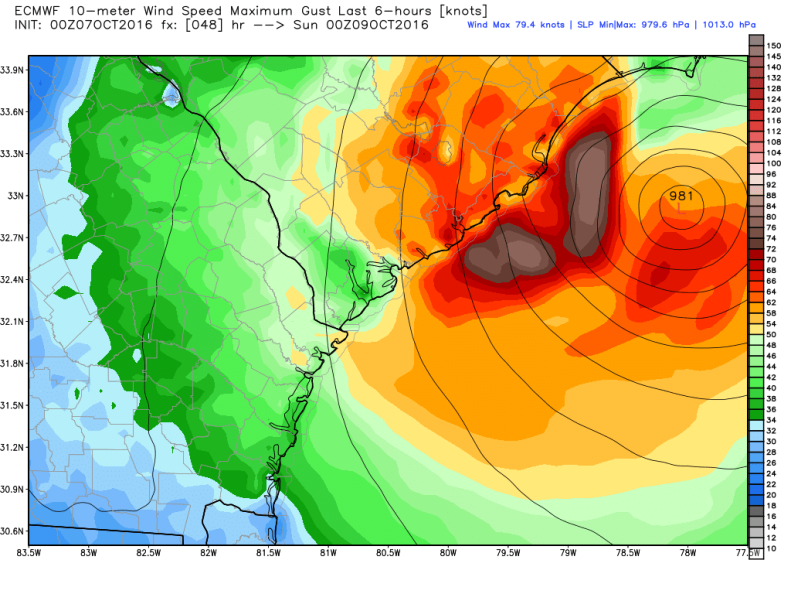 ecmwf_uv10g_charleston_Saturday_7PM.png
